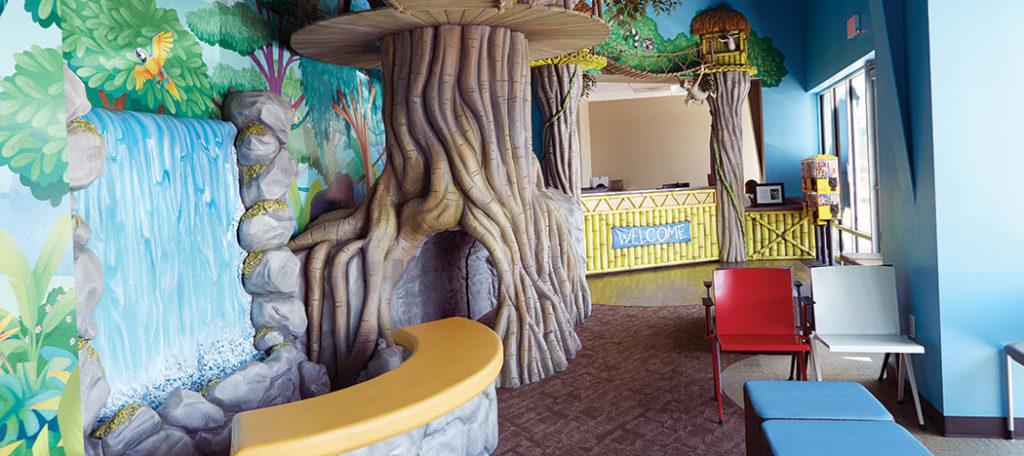 Reception area of Smile Safari.