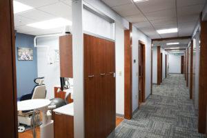 Hallway looking into operatory