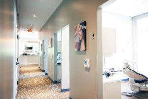 Hallway looking into treatment room